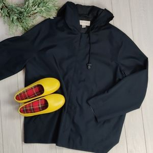 Casual Corner navy windbreaker rain jacket